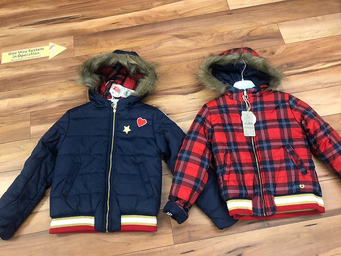 Tuc Tuc - Navy & Red Reversible Coat