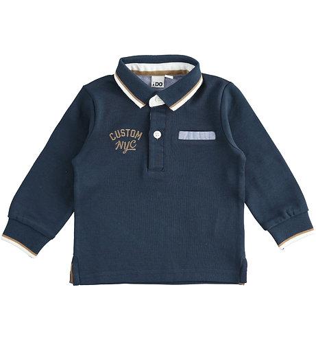 iDO - Boys navy polo shirt with embroidery