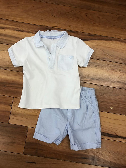 GYMP - White & Blue T-Shirt & Shorts