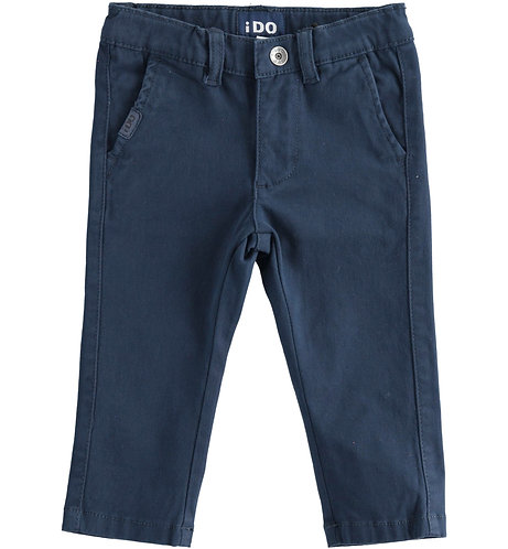 iDO - Navy trousers in stretch cotton twill