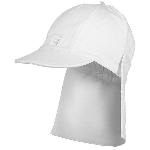 Aspen - White Interlock Suncap with detachable flap