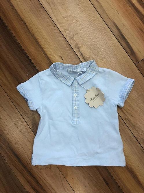 Patachou -  Blue Polo Shirt