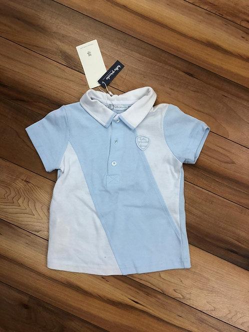 Tutto Piccolo -White & Blue Polo Shirt