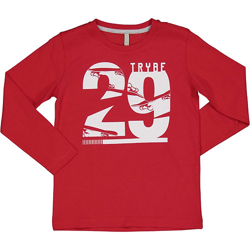 Trybeyond  - Red Long Sleeve Top