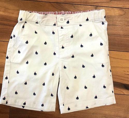 Babybol - White & Navy Shorts