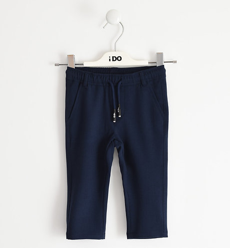 iDO - Navy Soft crepe fabric trousers