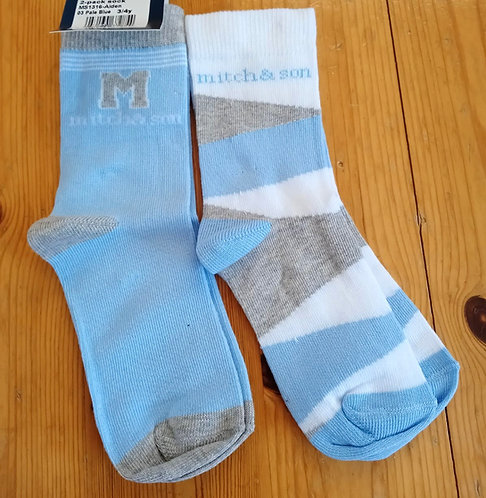 Mitch & Son - Aiden Blue Socks Twin Pack