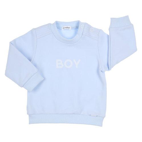 """GYMP CARBONDOUX - Light Blue Sweater """"Boy"""""""