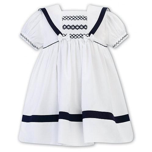 Sarah Louise - White and Navy Sailor Dress