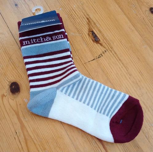 Mitch & Son - Bordo Grey Socks