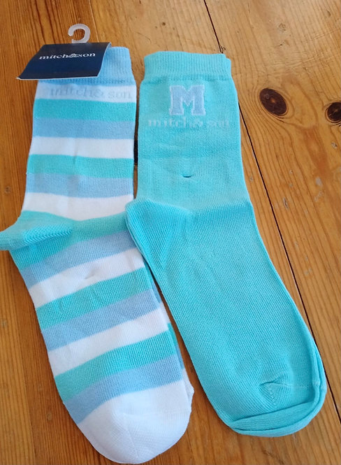 Mitch & Son -Aruba Blue Socks Twin Pack