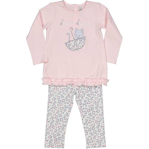 Birba - Pink & Grey 2 Piece Set