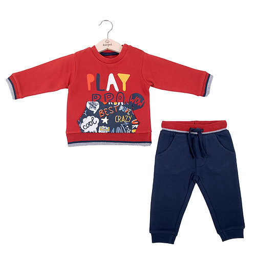 Babybol - Red Play Sweater & Navy Ends