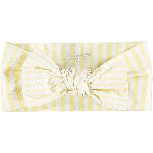 Little A - Kassidy Stripe Bow Headband