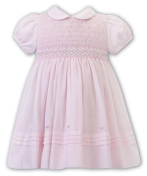 Sarah Louise - Pink Hand-Smocked Dress