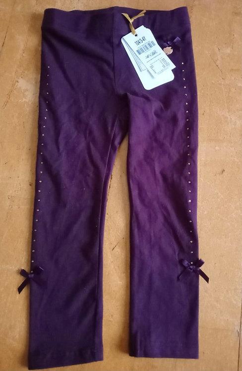 Le Chic - Purple Bow Leggings