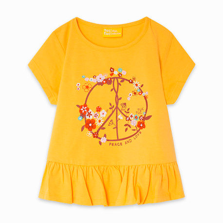 Tuc Tuc - Yellow Ruffle T-Shirt