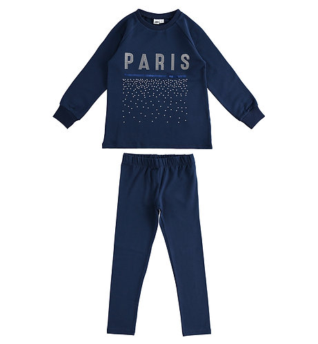 iDO - Navy Outfit with maxi sweatshirt and leggings