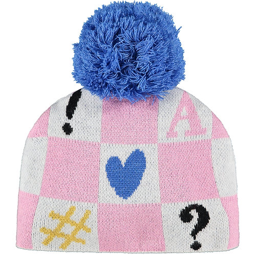 A Dee -Shirley Knitted Heart Hat