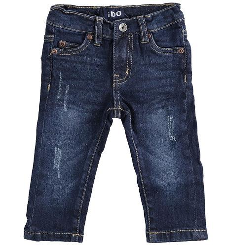 iDO - Navy Long Denim Trousers