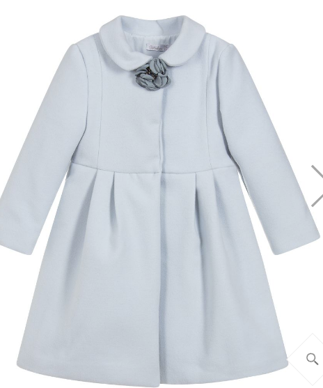 Patachou - Girls Pale Blue Coat