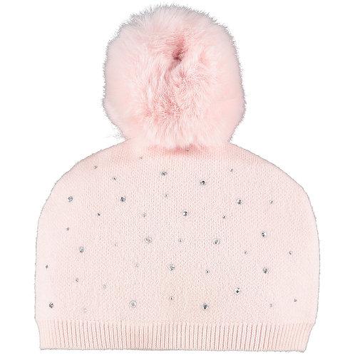 Little A - Angel Pink Sparkle Pom Pom Hat