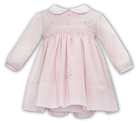 Sarah Louise - Pink Smocked Dress and Bloomers