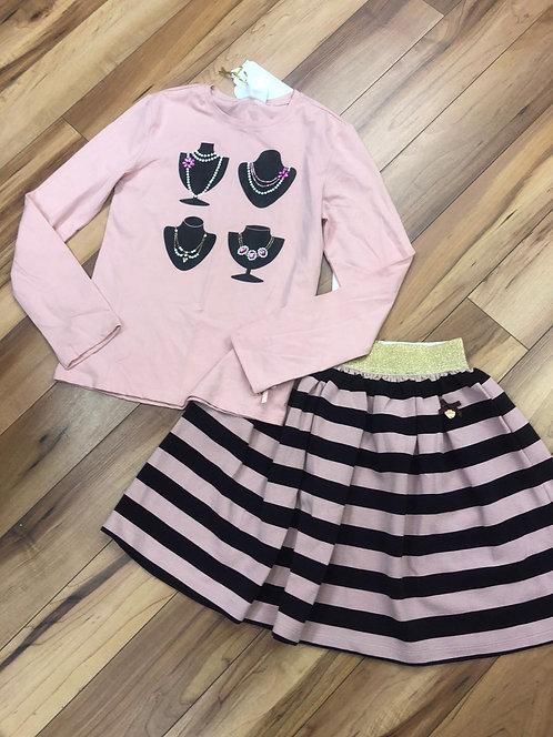 Le Chic - Pink Top & Dress Set