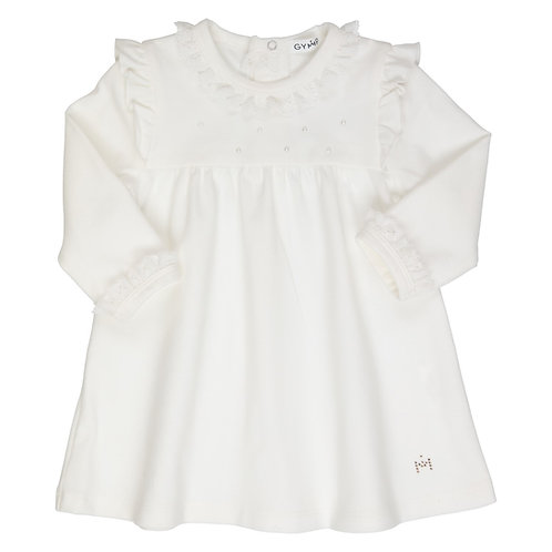 GYMP -  Off-White Lace Collar Dress