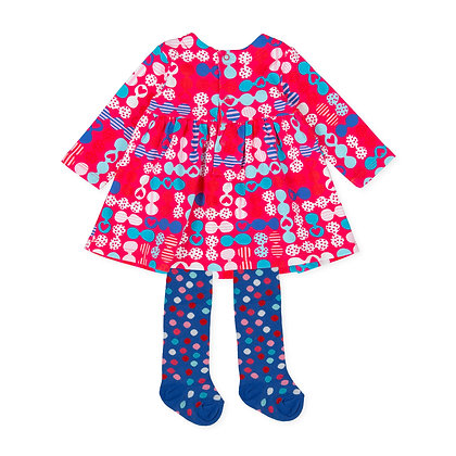 Agatha Ruiz de la Prada P.Fideos - Multicolour Dress & Tights