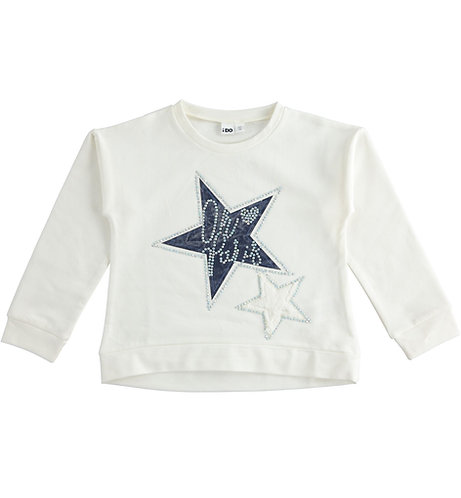 iDO - Crew neck winter sweatshirt with stars