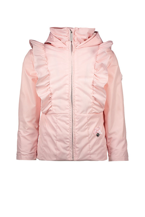 Le Chic - Pink Jacket with Vertical Ruffles