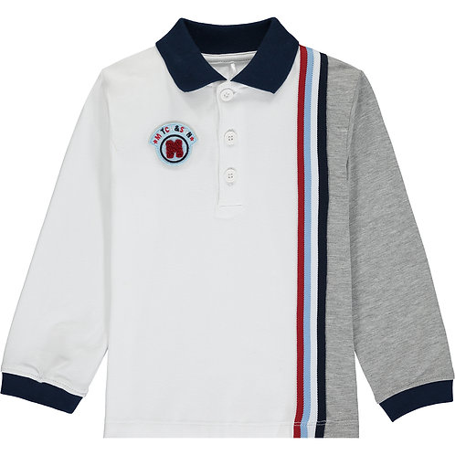 Mitch & Son Calvin two tone polo top