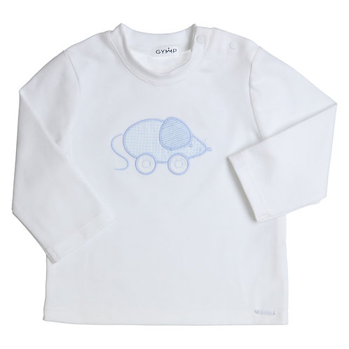 """GYMP - White Long Sleeve """"LITTLE MOUSE"""""""