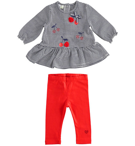iDO - Long Sleeve Set with Red Legs