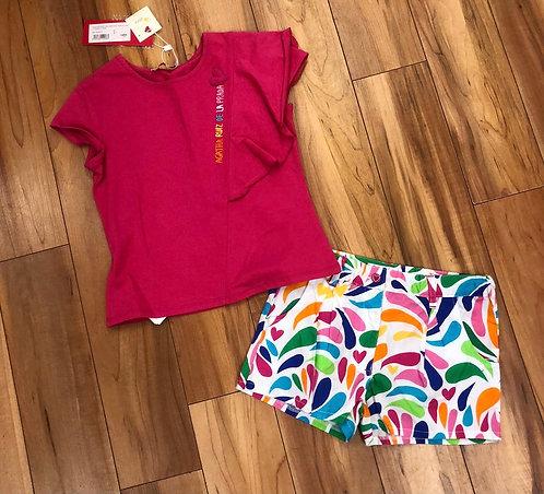 Agatha Ruiz de la Prada - Fuchsia Short & T-Shirt Set