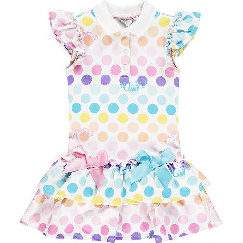 A Dee -Nerys Dotty Tennis Dress
