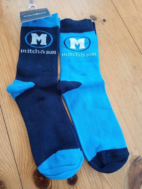 Mitch & Son - Abel Blue Socks Twin Pack