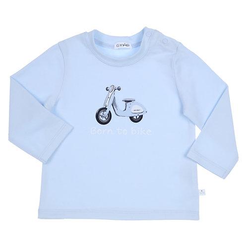 GYMP -  Light Blue Born To Bike Long Sleeve