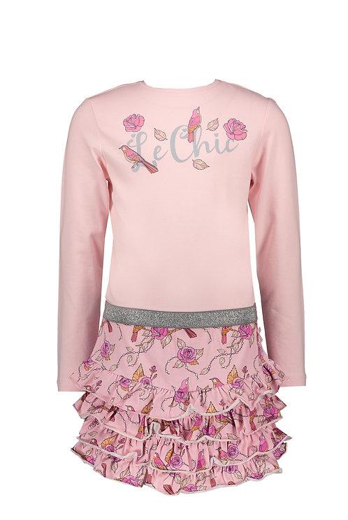 Le Chic - Susanna Birds Ruffle Dress