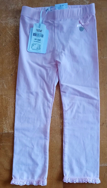 Le Chic Pink Ruffle Ends Leggings