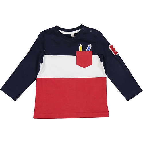 Birba - Navy, White & Red Long Sleeve