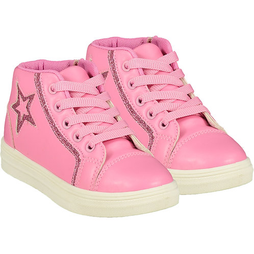 A Dee - Star Pink Candy High Top Trainer