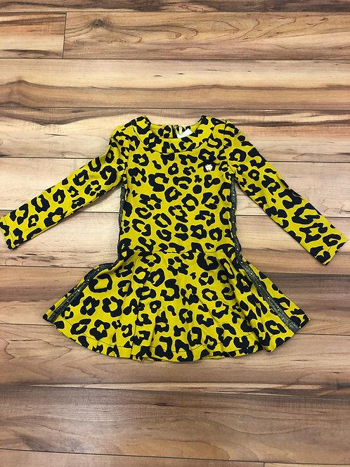 Le Chic Yellow Print Dress