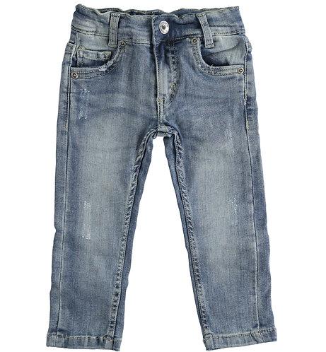 iDO - Pale Stone Washed Denim Trousers