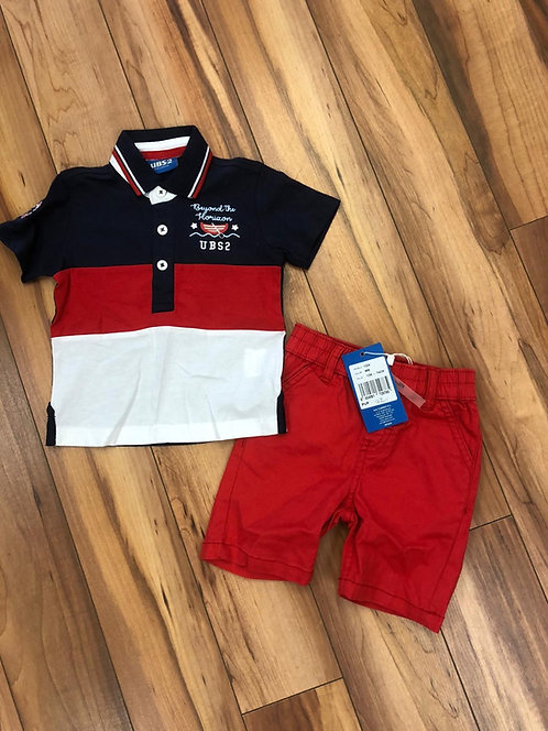 UBS2 - Navy & Red Shorts & T-Shirt