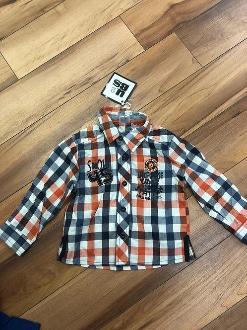 UBS2 - Orange Check Shirt