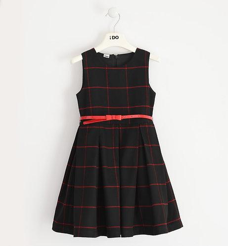 iDO - Girl pinafore dress in stretch viscose blend fabric