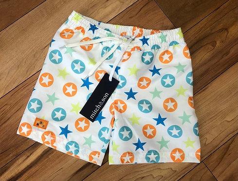 Mitch & Son - Thomas White Star Shorts