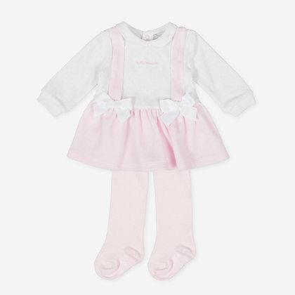 Tutto Piccolo P.Enif - Heart Print Dress  & Tights